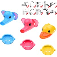 Kare & Kind Animal Shaped Faucet Extenders - 3 Pack - Fun Water Spouts for Toddlers, Kids, Children - Promotes Personal…