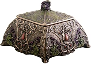 Art Nouveau Jewelry Box Holder, Flower