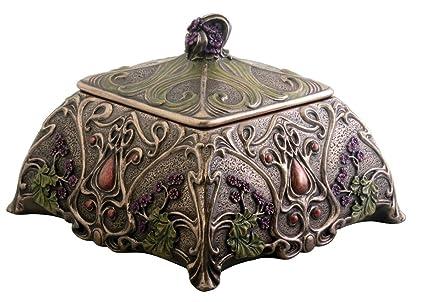 Amazoncom Art Nouveau Jewelry Box Holder Flower Home Kitchen
