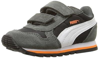 PUMA ST Runner NL V Inf Sneaker (Toddler), Black White, 4 M