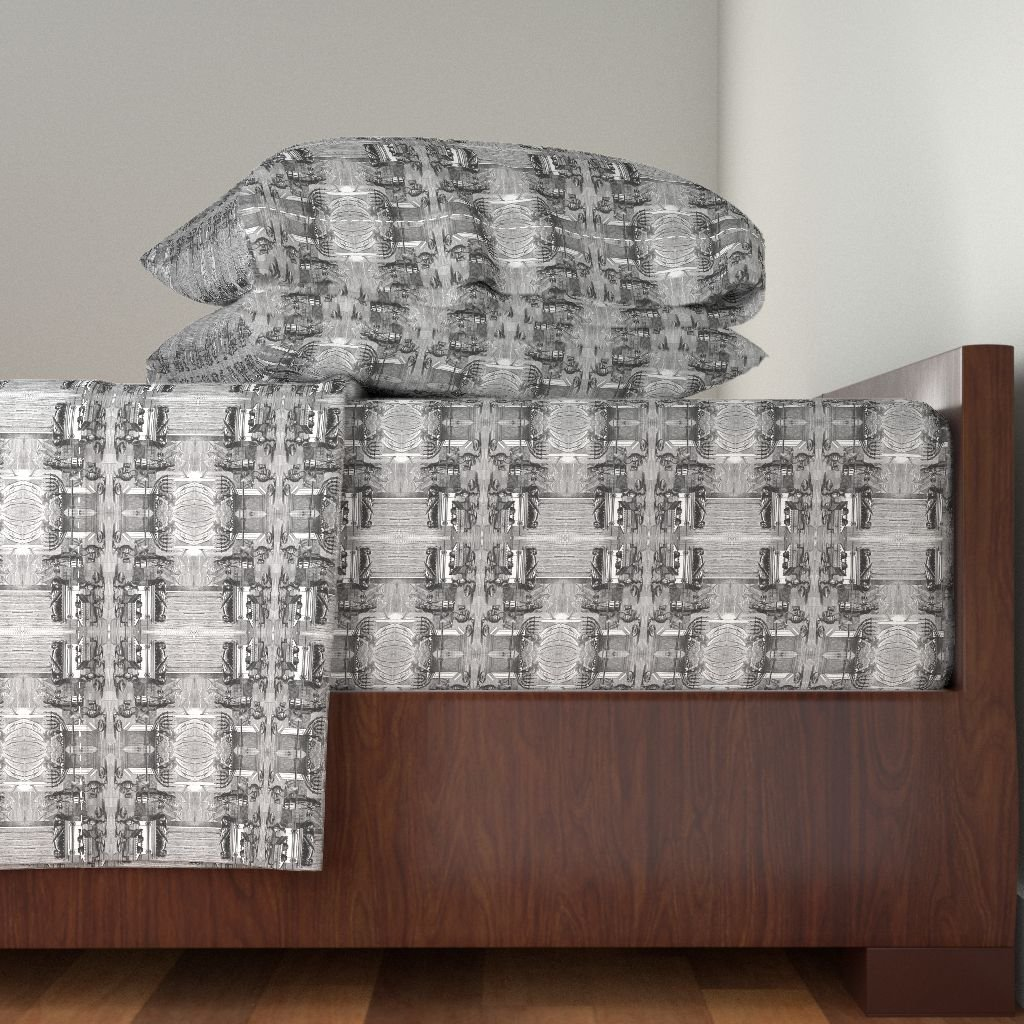 Roostery Bible 4pc Sheet Set Tabernacle Elements by Flyingfish King Sheet Set made with