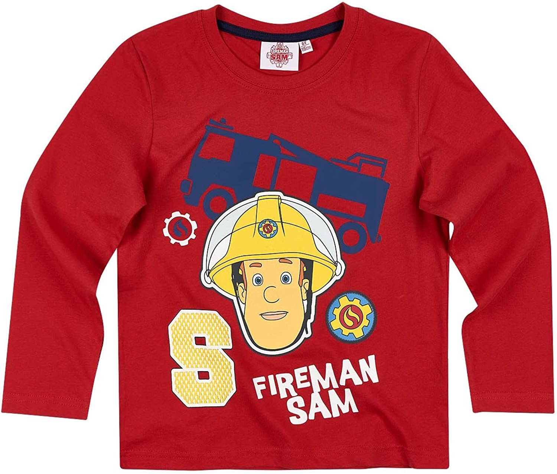 red Fireman Sam Boys Long Sleeve T-Shirt