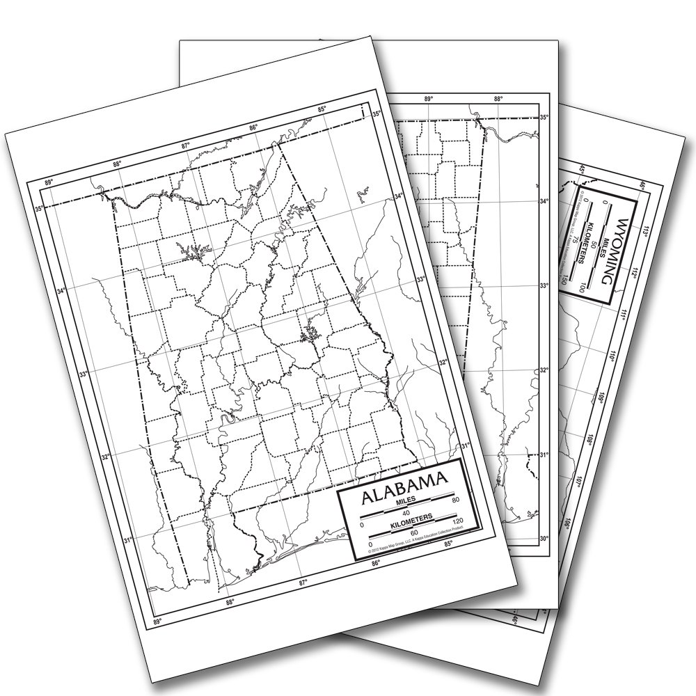 Us 50 State Outline Pad Kappa Map Group 9780762578733 Amazoncom - Us-outline-map-with-states