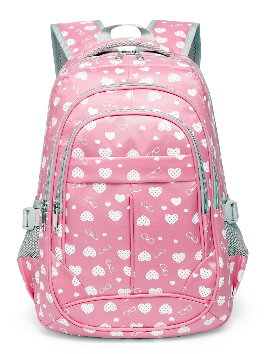 Sweetheart School Backpacks for Girls Children Kids Bookbags (Pink) by BLUEFAIRY