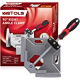 WETOLS Angle Clamp - 90 Degree Right Angle Clamp - Single Handle Corner Clamp with Adjustable Swing Jaw Aluminum Alloy…