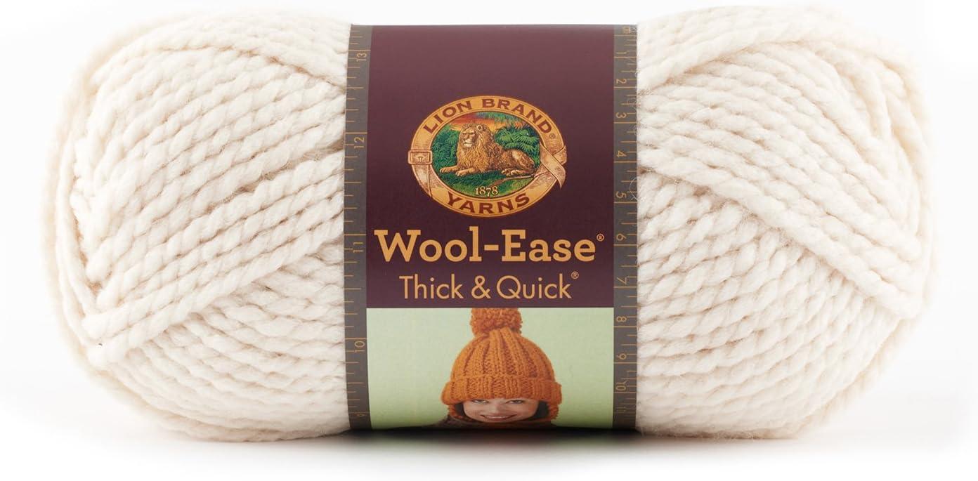 Lion Brand Yarn 640-144 Wool-Ease Thick /& Quick Yarn Raisin
