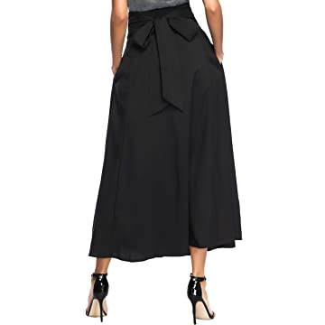 3fc219ad565 Calvin Sally Women s Casual Flowy Dress High Waist Pleated Midi Skirt with  Pockets