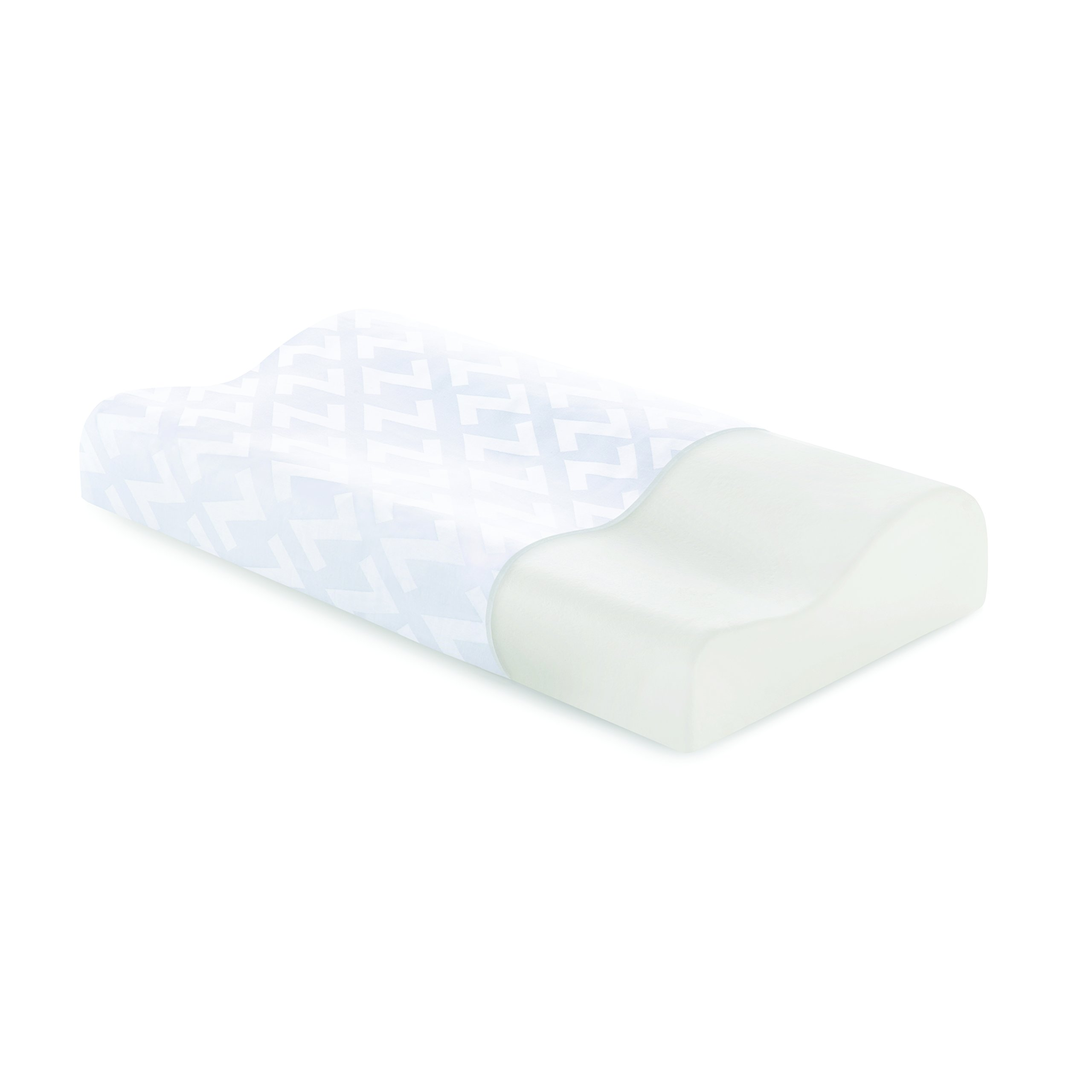 Z Memory Foam Contour Pillow - Removable Tencel Cover - Queen