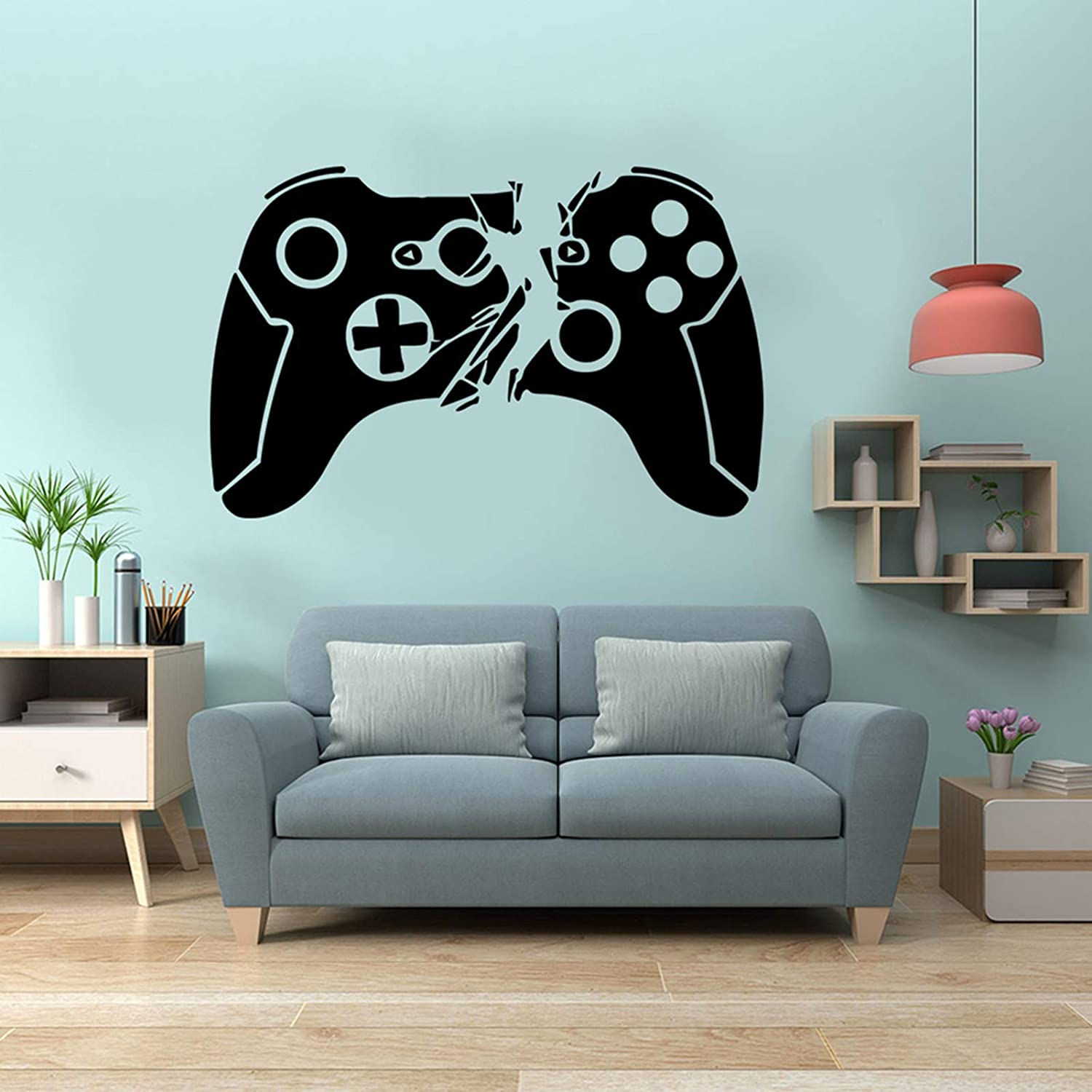 Game Controller Wall Sticker Video Game Wall Decals for Boys Kids Room Creative Gaming Wall Posters Removable Wallpaper for Bedroom Playroom