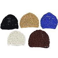 Monrocco 5Pcs Hair Net Snoods Crochet Snood Thick Short Women Hair Net for Sleeping