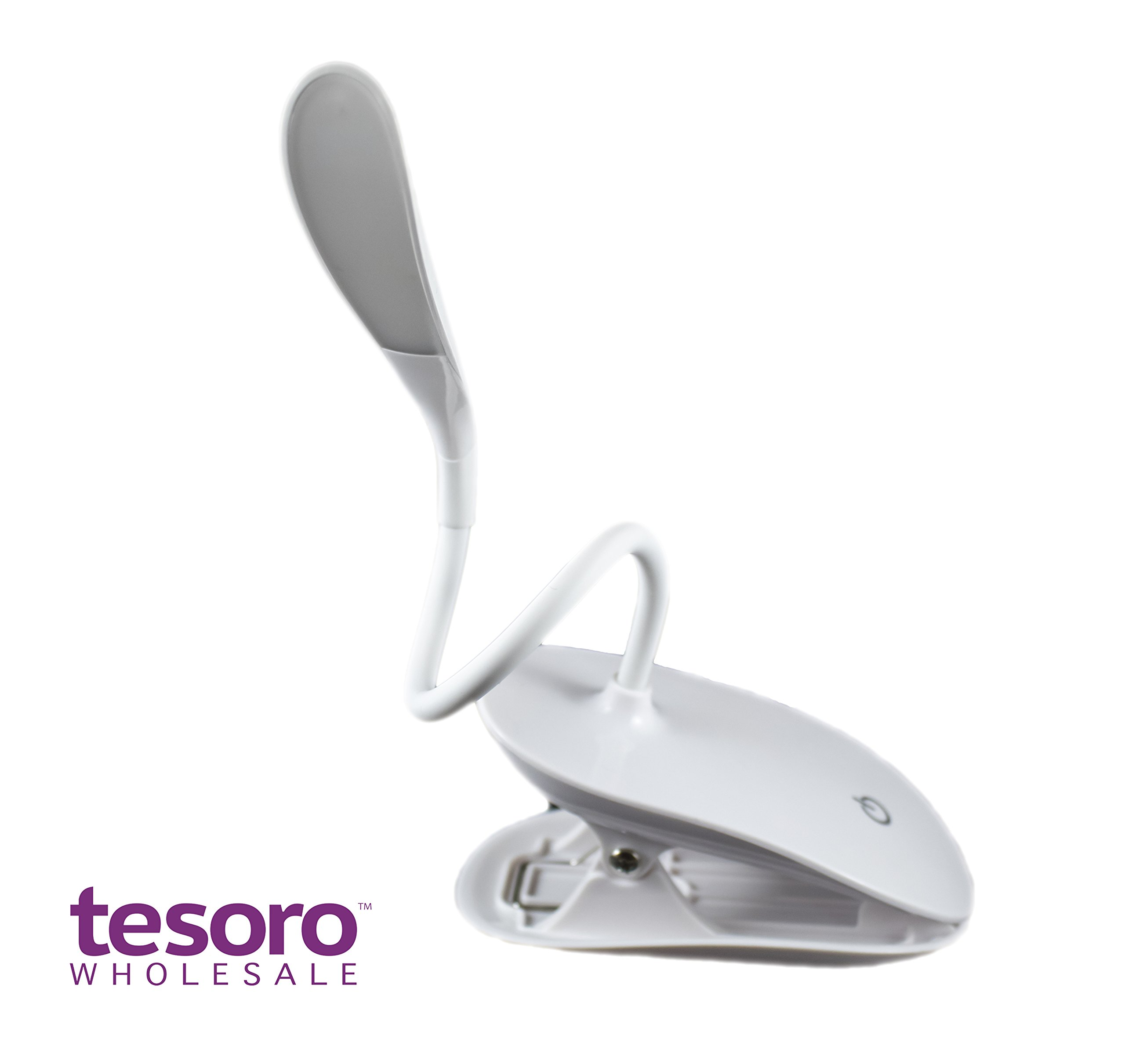 Clip-on Book Light Reading Lamp, Portable Table Light, Adjustable Led Clip Light, Anti Glare Reading Light, USB Rechargeable Computer Desk Lamp, White Daylight Bed Light. by Tesoro Wholesale™ (Image #3)