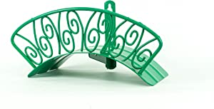 Yard Butler Deluxe Heavy Duty Wall Mount Hose Hanger Holds 125' Of 5/8' Hose Solid Steel Extra Bracing Spiral Design IHCWM-1SPIRALG GREEN