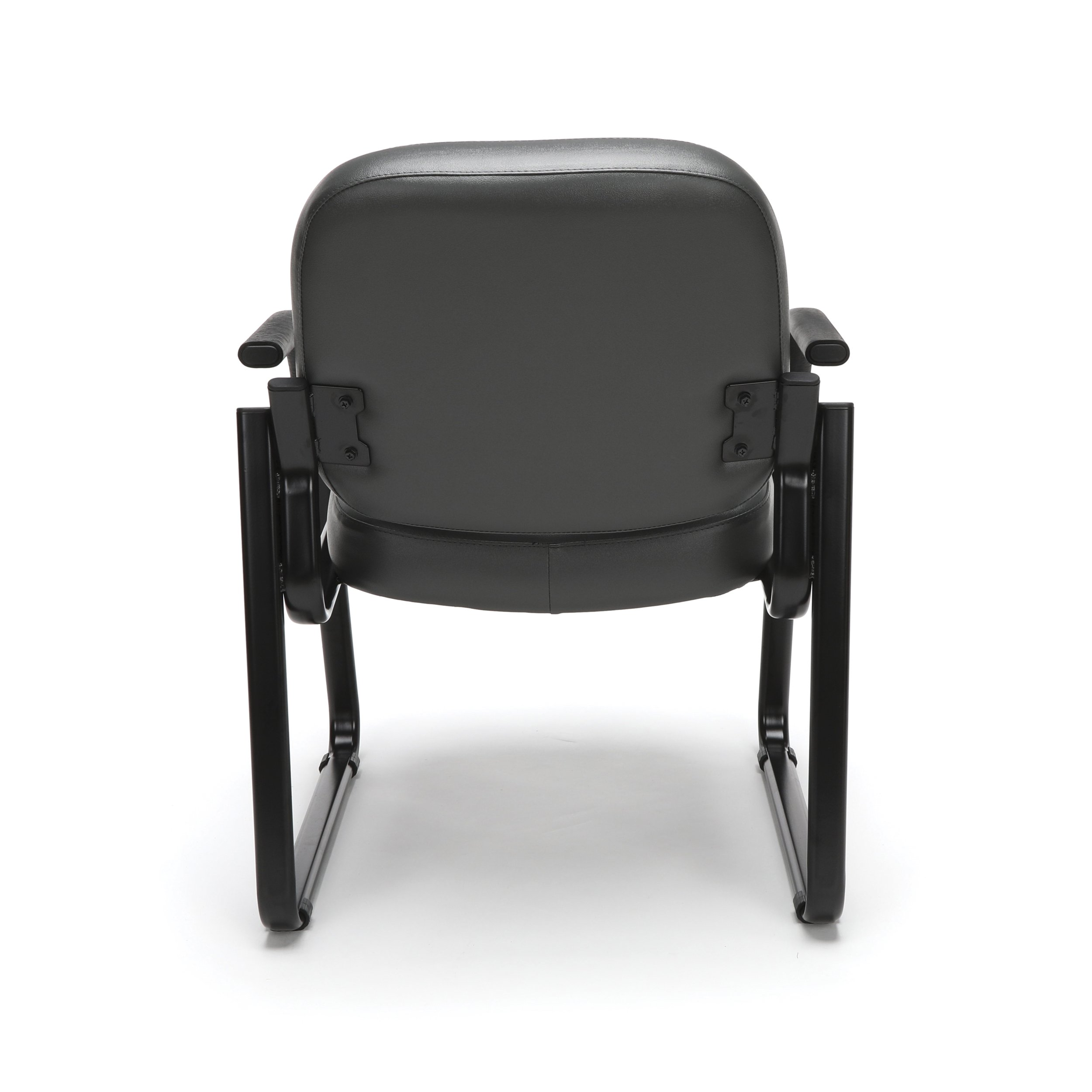 OFM Reception Chair with Arms - Anti-Microbial/Anti-Bacterial Vinyl Guest Chair, Charcoal (403-VAM) by OFM (Image #5)