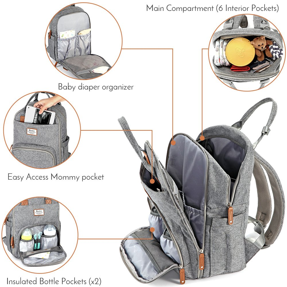 RUVALINO Multifunction Travel Back Pack Maternity Baby Changing Bags