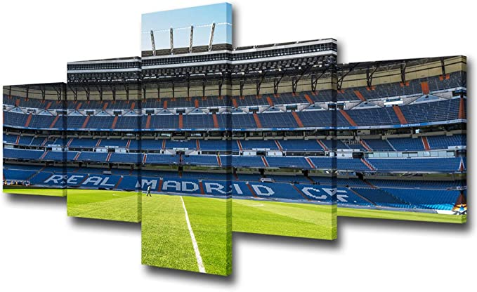 Real Madrid Wallpaper 2020 Lienzo Art Poster y Wall Art Picture Print Modern Family Bedroom Decor Posters