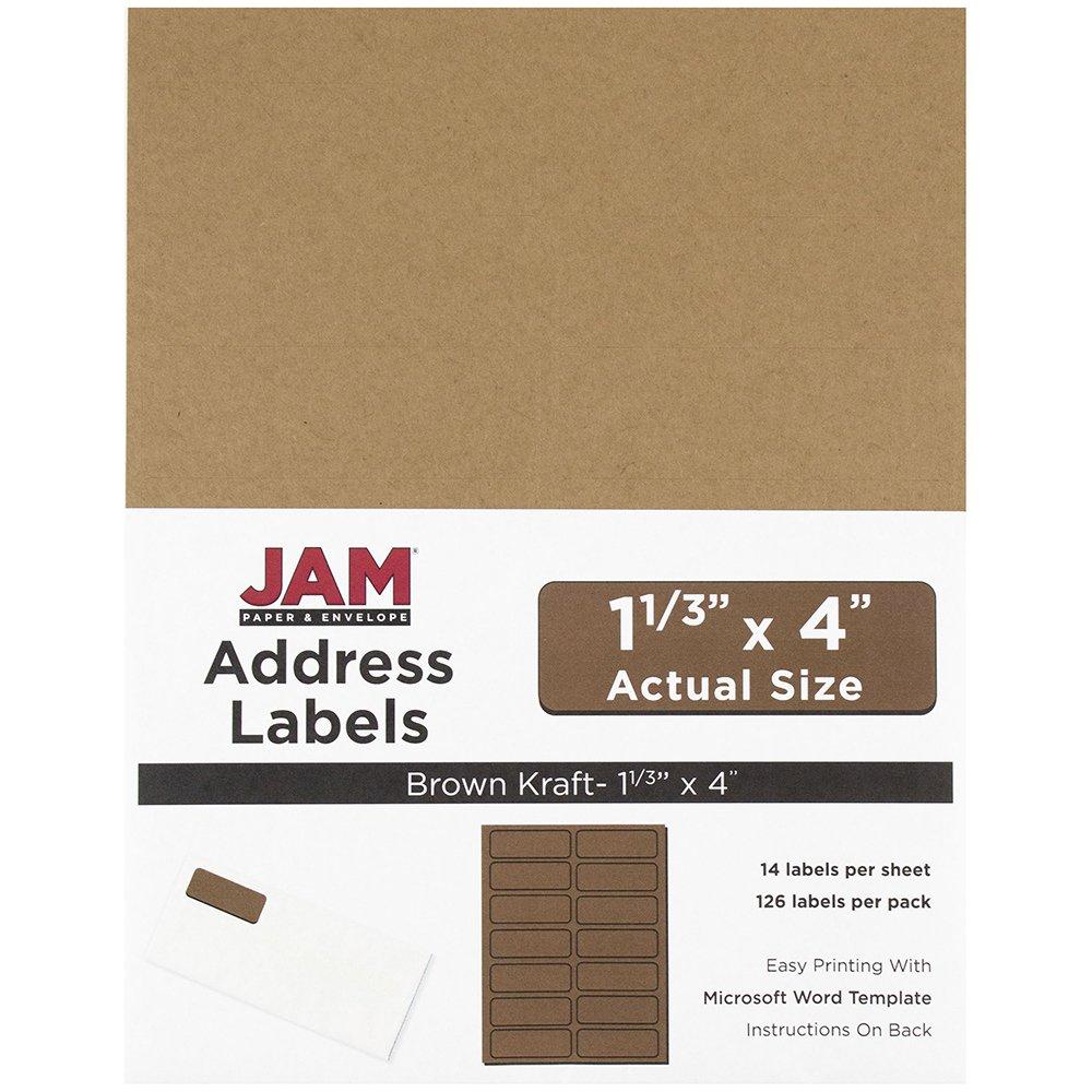 Amazoncom JAM Paper Address Labels X In Brown Kraft - 3 x 4 label template