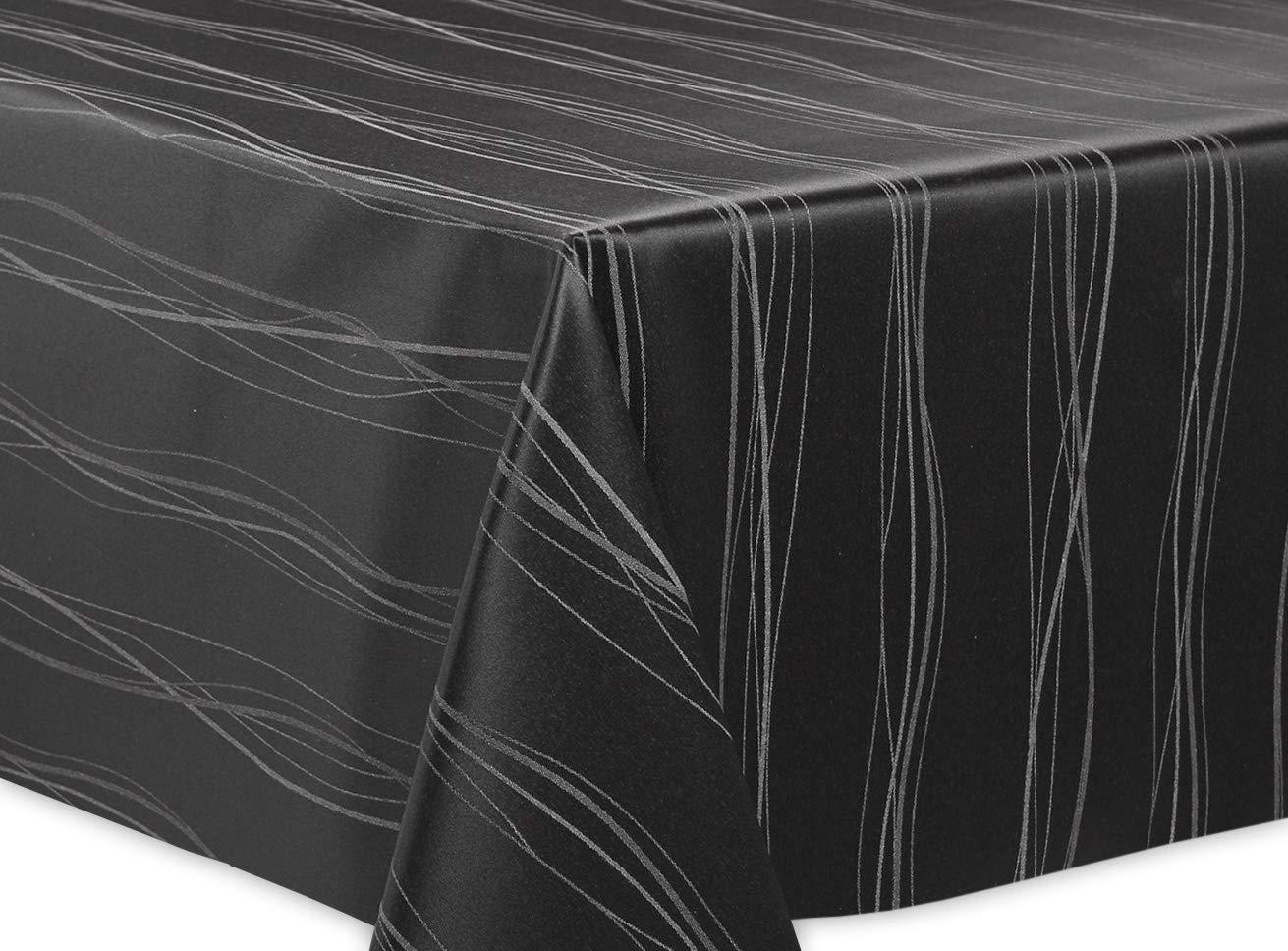 Beautex Jacquard Stoff Tischdecke mit mit mit Lotus Effekt abwischbar, Motiv und Größe wählbar, oval 140 x 260 cm, Linado Silbergrau B07J2KBVK1 Tischdecken 6ecc44