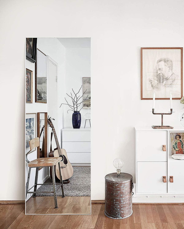 """TinyTimes 65""""×22"""" Modern Large Full Length Floor Mirror For Bedroom"""