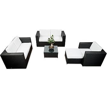 Polyrattan Lounge Möbel Set Für Balkon Und Terrasse Erweiterbar   Lounge  Polyrattan XXL