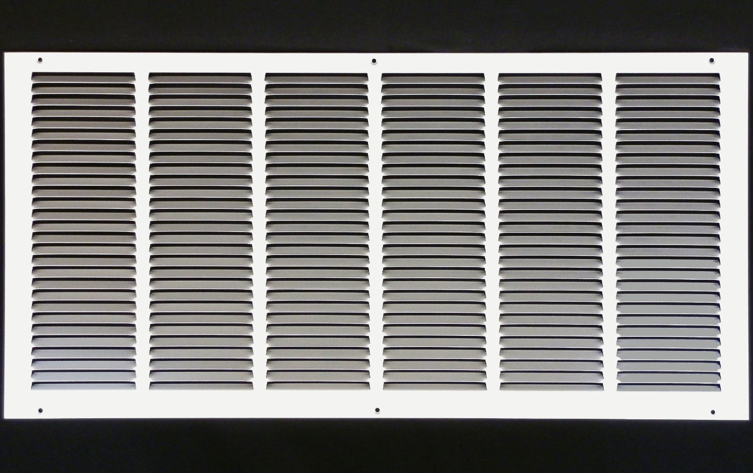 "30""w X 12""h Steel Return Air Grilles - Sidewall and Ceiling - HVAC Duct Cover - White [Outer Dimensions: 31.75""w X 13.75""h]"