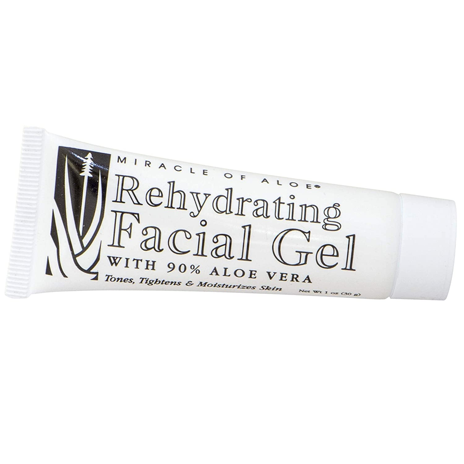 Rehydrating Facial Gel with 90% UltraAloe, 1 ounce tube