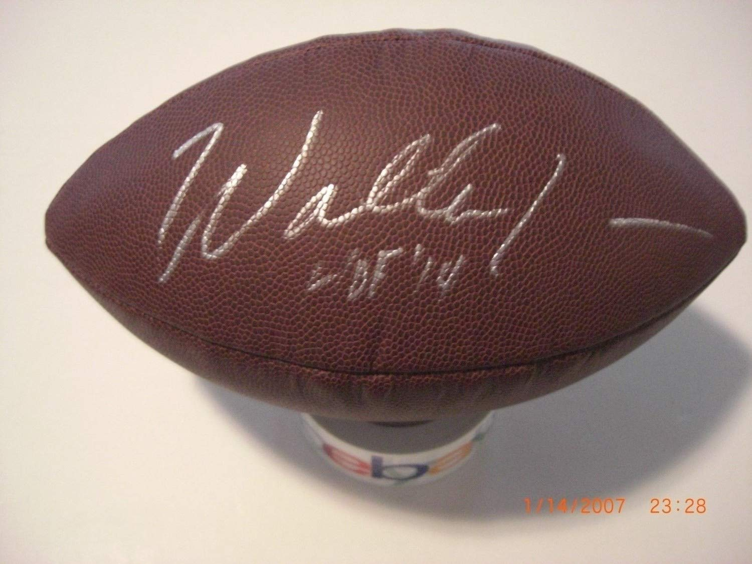 3f2a23c5bd9 Walter Jones Seattle Seahawks Hof 2014 Beckett Authentic/Coa Autographed  Signed Football at Amazon's Sports Collectibles Store