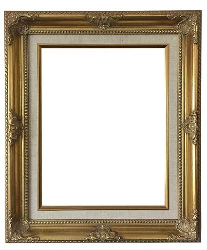 Amazon West Frames Estelle Antique Gold Natural Linen Liner