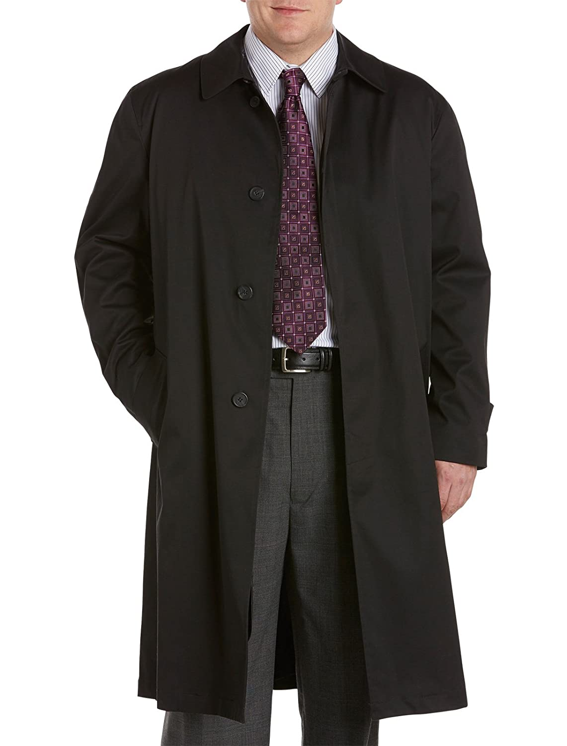 Jean Paul Germain Big and Tall Buster Three-Season Overcoat 90211 Buster Black