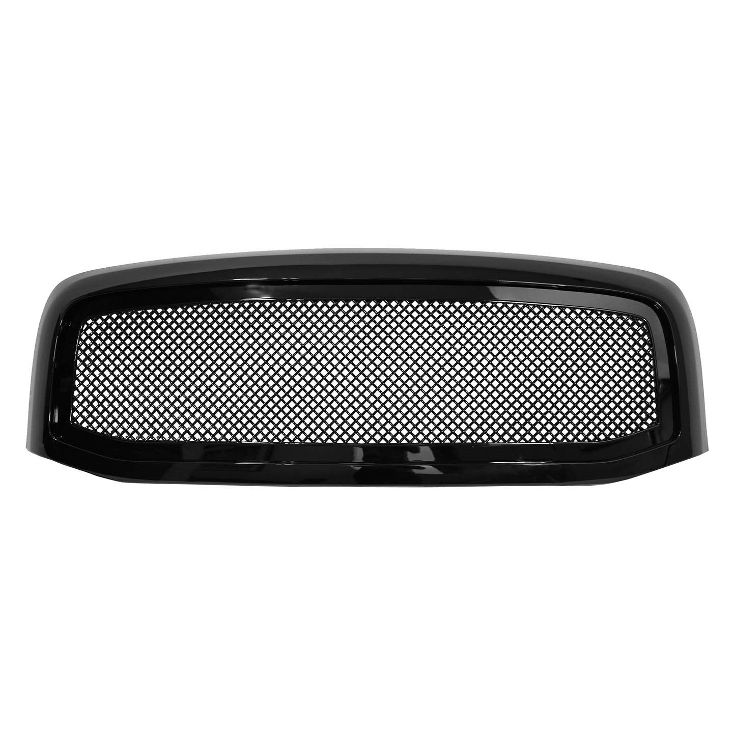 Paragon Front Grille for 2006-08 Dodge Ram 1500/2500/3500 - Gloss Black Grill Grilles with Mesh Paragon Parts