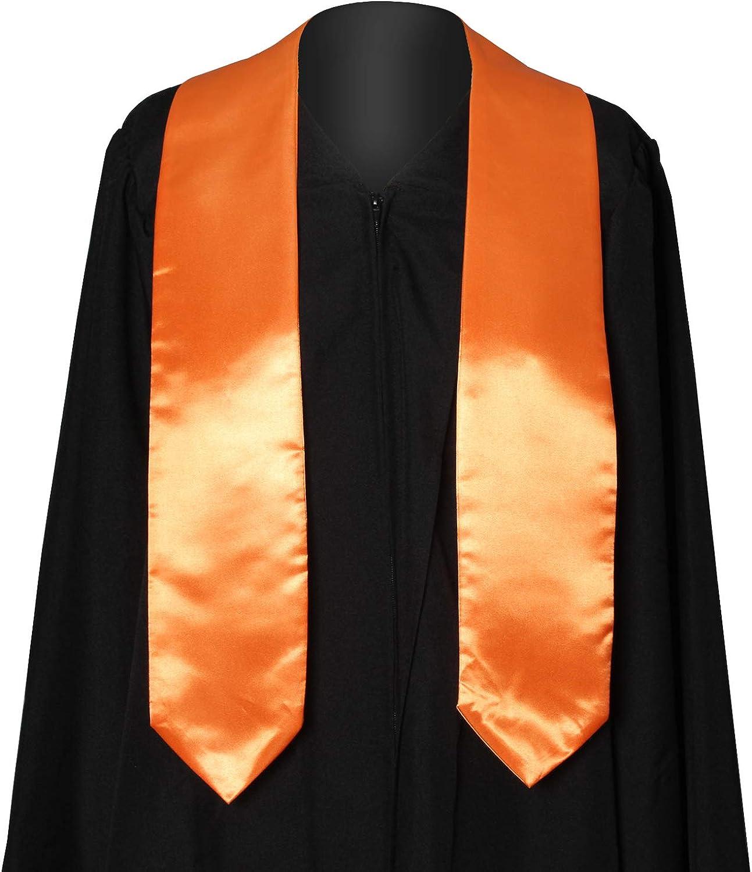 GraduationService Plain Graduation Stole Colorful Stole for Adult Length 60,16 Colors