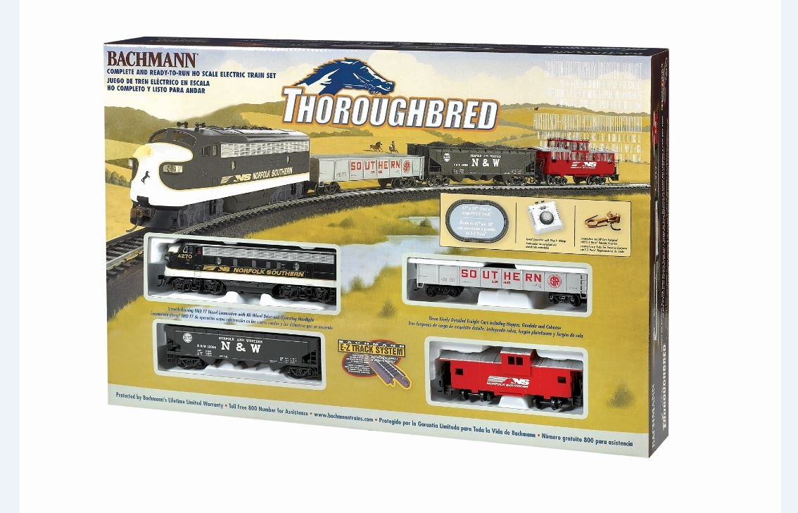 Bachmann Trains Thoroughbred Ready-to-Run HO Scale Train Set by Bachmann Trains (Image #1)