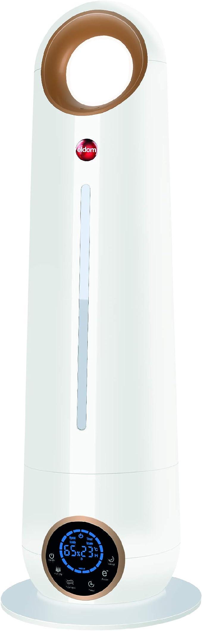 eldom Humidificador Ultras/ónico NU9 28W de Potencia 4 l para Habitaciones de hasta 35 m2
