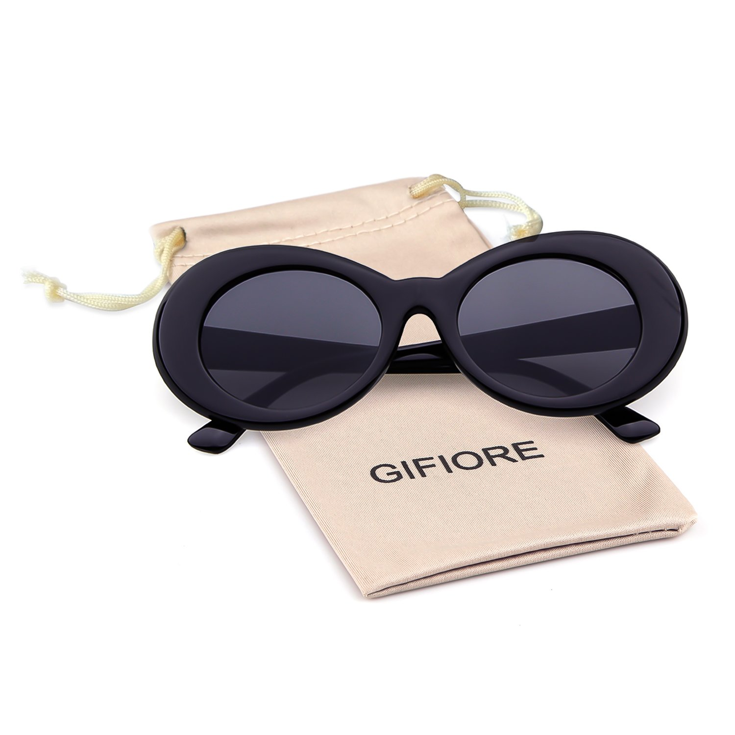 8370fb30aa Clout Goggles Oval Mod Retro Vintage Kurt Cobain Inspired Sunglasses Round  Lens  Amazon.ca  Clothing   Accessories