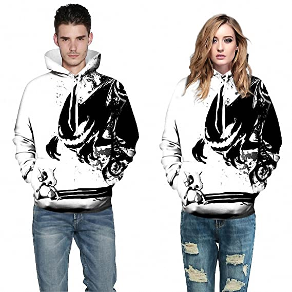 Amazon.com: NEW New Men&Women Hoodies Pokemon Men 3D Print Harajuku Punk Style Sweatshirts Couple Hoodie Motorcycle Streetwear: Clothing