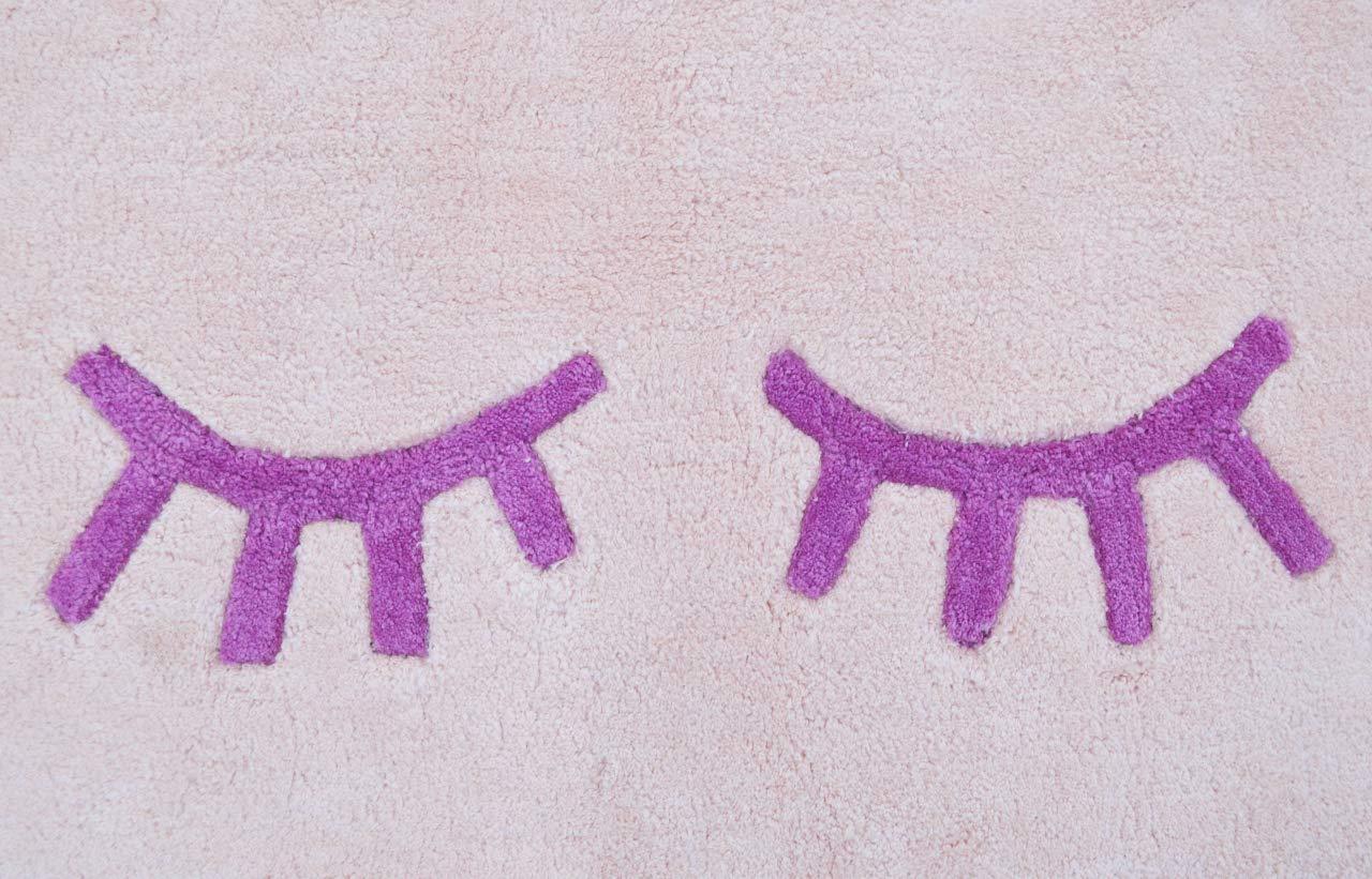 Rosa Coton 60 x 110 cm Livone Tapis pour b/éb/é en Coton Lavable pour Chambre denfant Motif Nuage Rose