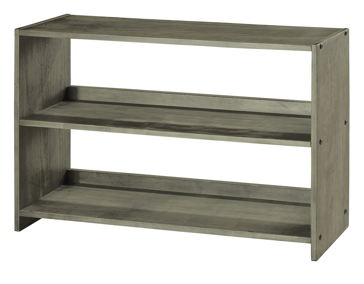 DONCO KIDS 790DAG Louver Bookcase, Antique Grey - LARGE LOUVER BOOKCASE BOOKCASE FOR DONCO KIDS 790AAG LOW LOFT SOME ASSEMBLY REQUIRED - living-room-furniture, living-room, bookcases-bookshelves - 7154yni%2BBhL -