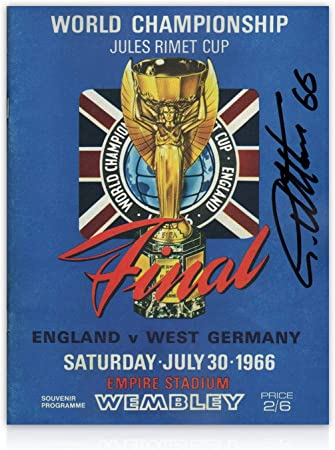 World Cup Final programme signed by Sir Geoff Hurst