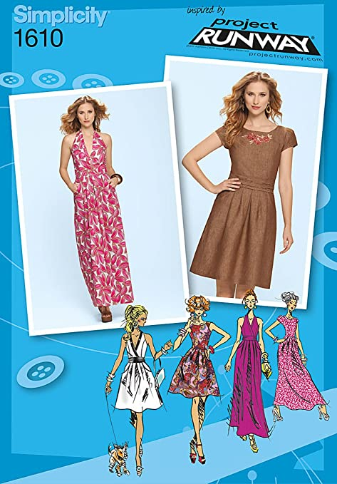 Simplicity Sewing Pattern 1610 Misses Dress Project Runway