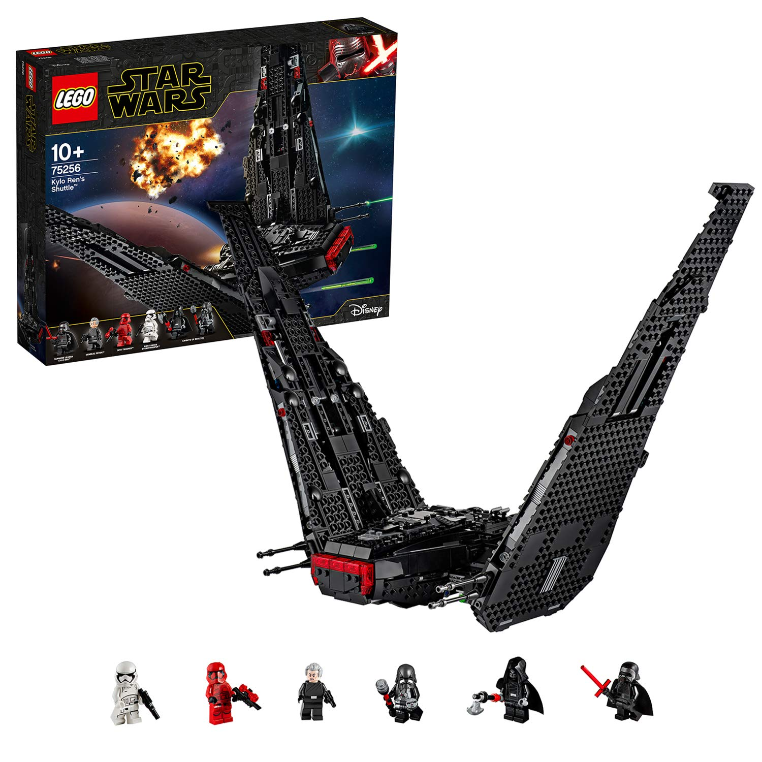 Buy Lego Kylo Ren S Shuttle Building Blocks For Kids 1005 Pcs 75256 Online At Low Prices In India Amazon In