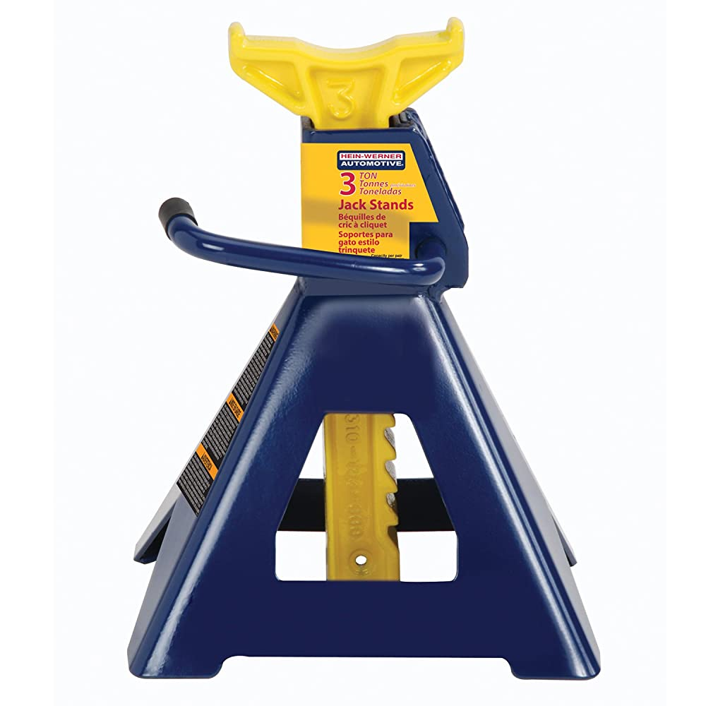 Hein-Werner HW93503 Blue/Yellow Jack Stand - 3 Ton Capacity