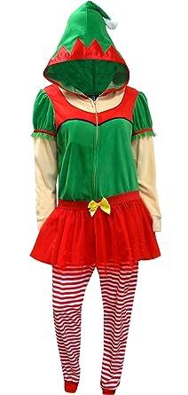 Women's Elf Union Suit, Festive Green, L/XL