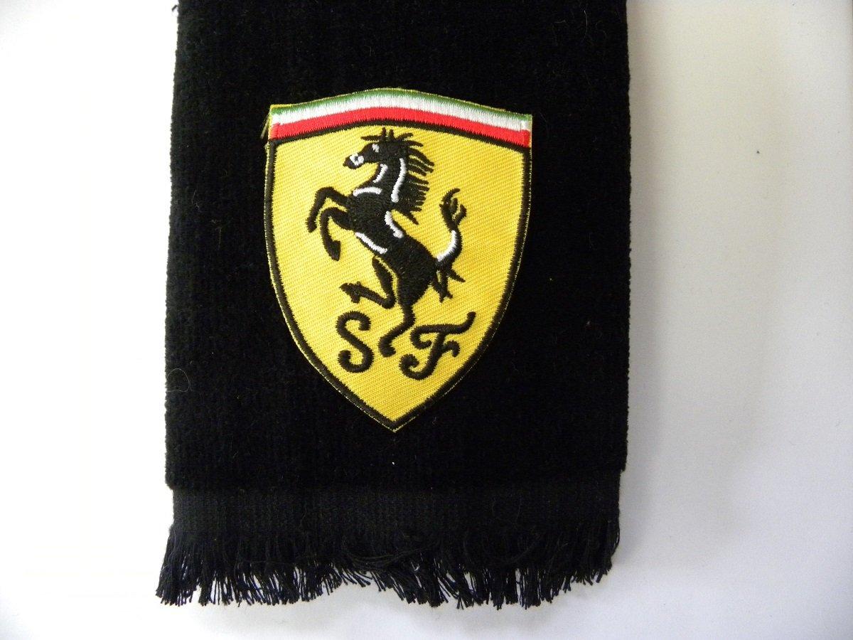 Ferrari Golf Towel vintage applique black car auto