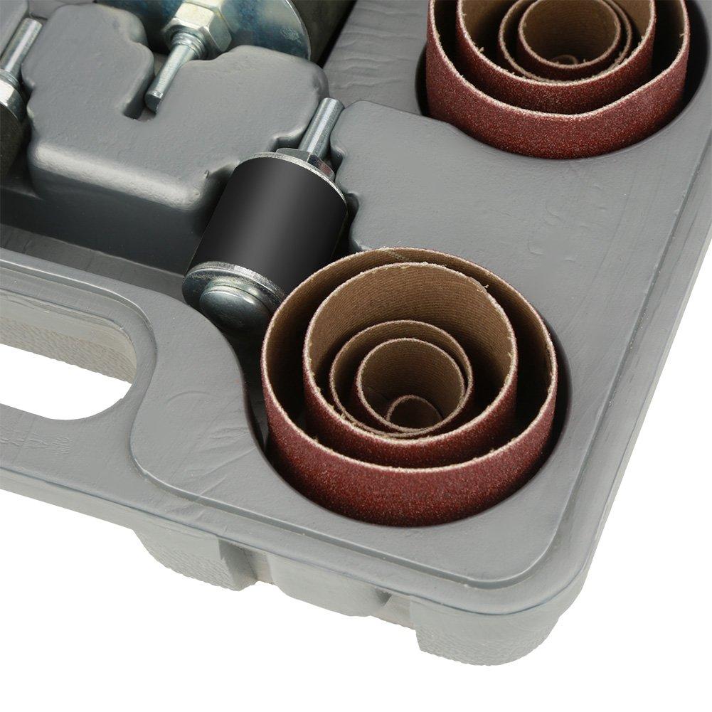 25pcs Kit de pon/çage de broche de pon/çage Kit de tambour de pon/çage Quick Sand Tool Set avec /étui pour perceuse /à colonne Kit de batterie Saner Tool Set