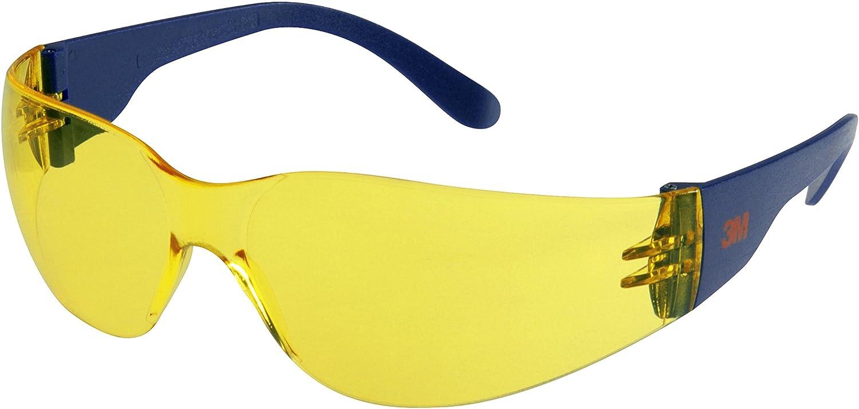 3M 2721 Gafas de seguridad PC ocular amarillo recubrimiento AR-AE 1 gafa/bolsa