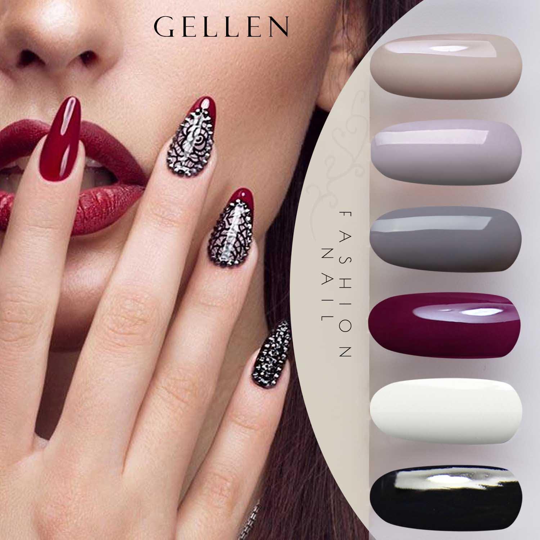 Esmalte de uñas de gel Gellen, con secado UV LED (4 unidades, 8 ml): Amazon.es: Belleza
