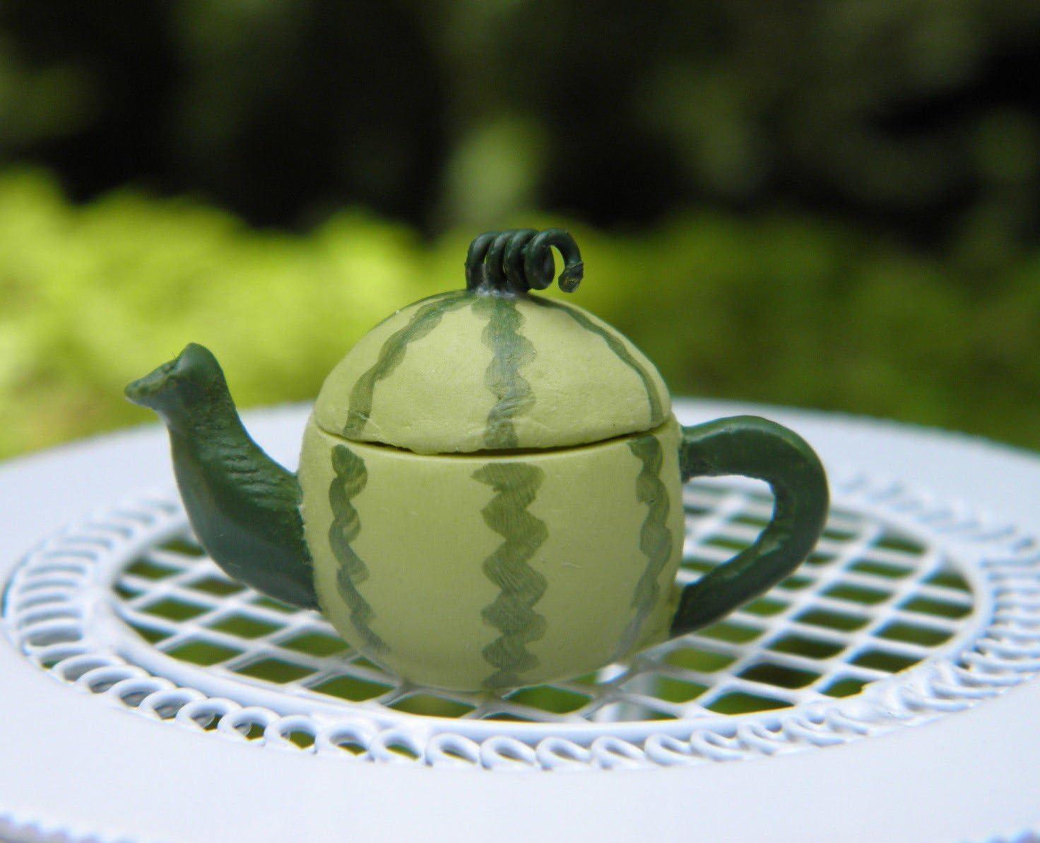Miniature Dollhouse Fairy Garden Accessories Watermelon Teapot