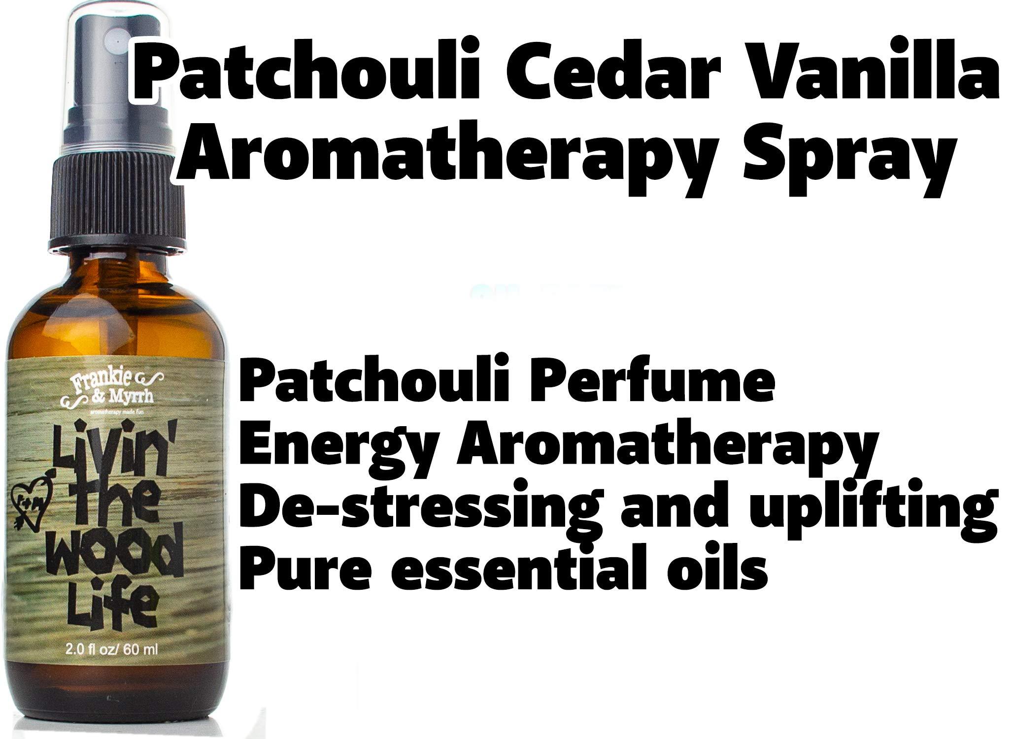 Livin' The Wood Life | Patchouli Cedar Vanilla Natural Perfume/Cologne | Aromatherapy Spray by Frankie and Myrrh (Image #2)
