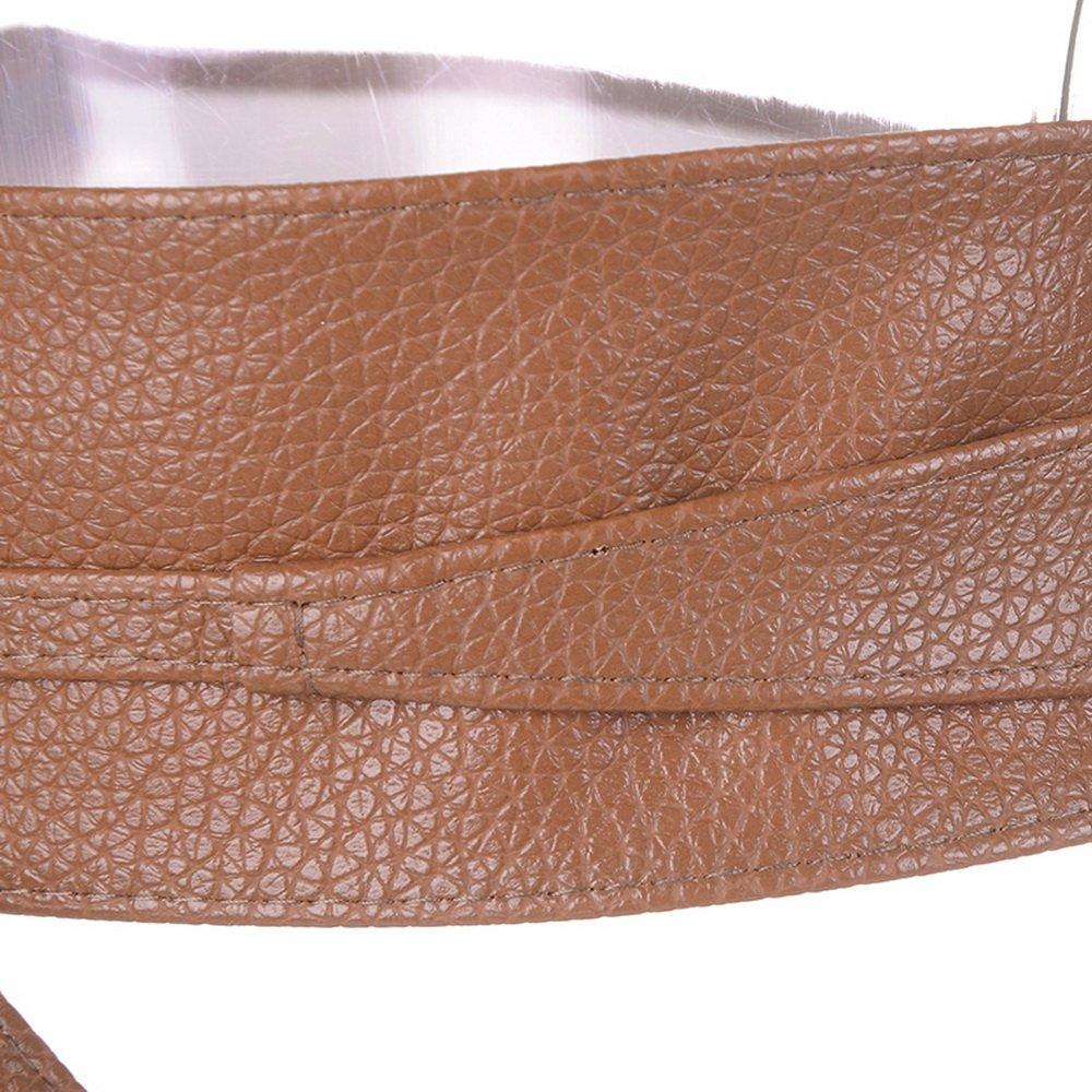 615bd563cac Bonboho Femme Ceinture Cuir PU Souple Large pour Robe Boho Serré Taille Haut