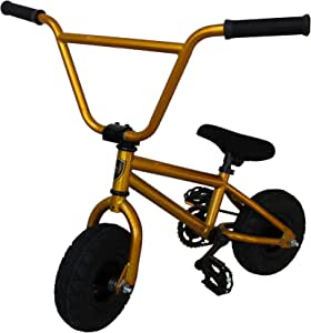 "Mini 10"" BMX Bikes, Monkey Trick Bike, Stunt Bike, Dirt Bike - Gold"
