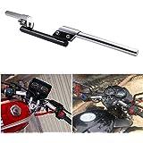 "INNOGLOW Motorcycle Handlebar Adjustable 22mm 7/8"" Motorcycle Sport Bike for Honda Suzuki Yamaha Kawasaki BMW (White)"